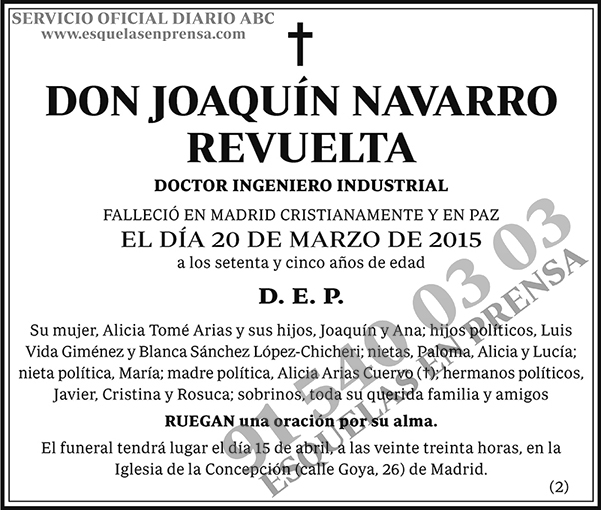 Joaquín Navarro Revuelta
